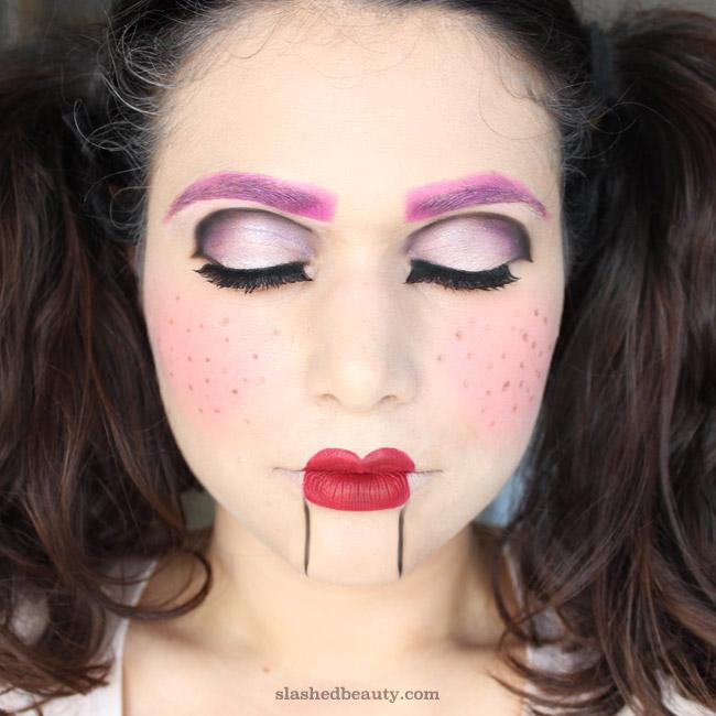 Ventriloquist Doll Halloween Makeup Tutorial Slashed Beauty