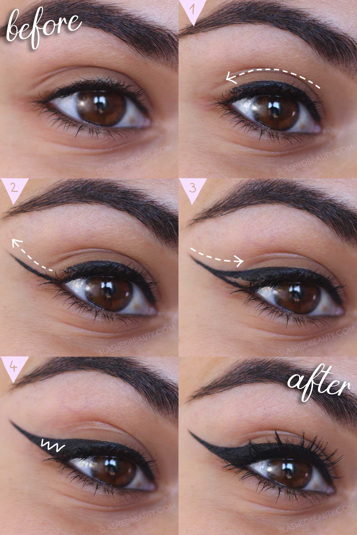 Eyeliner Guide for Beginners | How To: Winged Eyeliner Tutorial for Beginners | Slashed Beauty