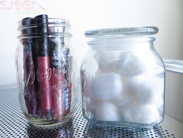 Makeup Organization Ideas using Household Items