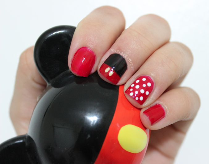 minnie mouse inspired nail art slashed beauty mickey minnie mouse inspired nail art slashed beauty prinsesfo Image collections