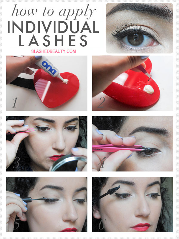 How To Apply Individual Lashes Slashed Beauty