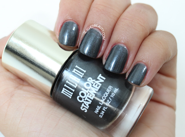 Review & Swatches: Milani Color Statement Nail Lacquers Fall Shades - Charcoal Charm