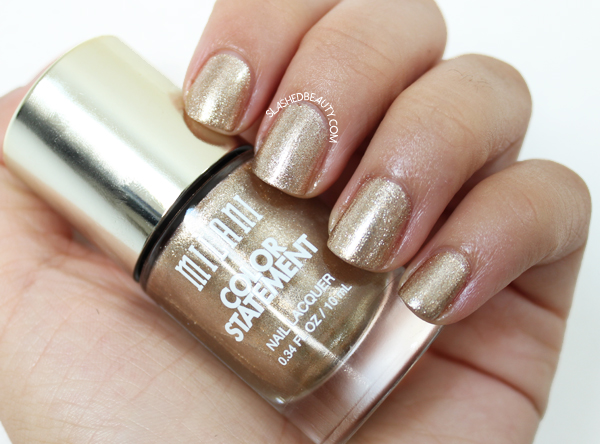 Review & Swatches: Milani Color Statement Nail Lacquers Fall Shades - Gold Plated