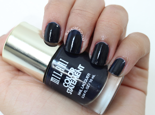 Review & Swatches: Milani Color Statement Nail Lacquers Fall Shades - Ink Spot
