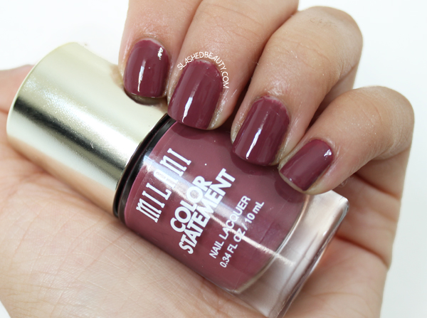 Review & Swatches: Milani Color Statement Nail Lacquers Fall Shades - Mauving Forward