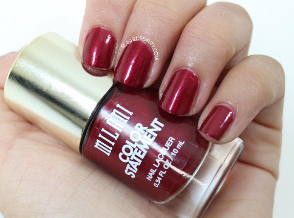 Review & Swatches: Milani Color Statement Nail Lacquers Fall Shades - Ruby Stone
