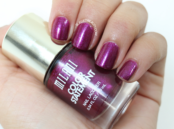 Review & Swatches: Milani Color Statement Nail Lacquers Fall Shades - Sugar Plum