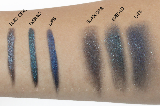 Milani Constellation Gel Eyeliners Swatches