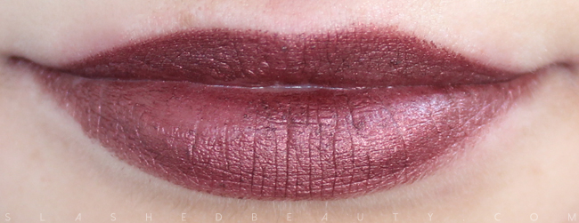 Review & Swatches: NYX Simply Vamp Lip Creams- Covet