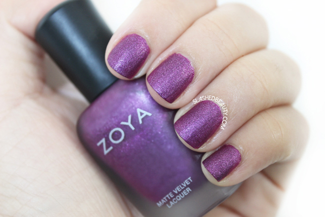 Review & Swatches: Zoya Matte Velvet Collection- Harlow