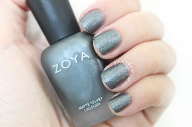 Review & Swatches: Zoya Matte Velvet Collection- Loredana