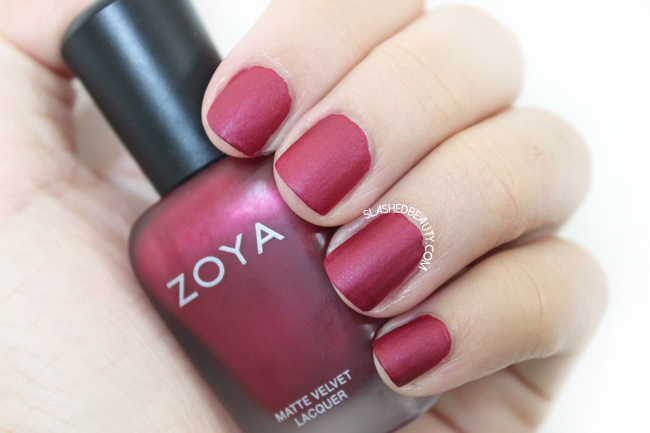 Review & Swatches: Zoya Matte Velvet Collection- Posh