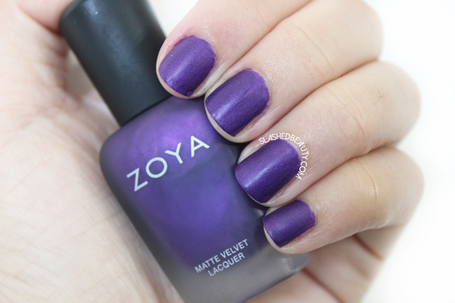Review & Swatches: Zoya Matte Velvet Collection- Savita