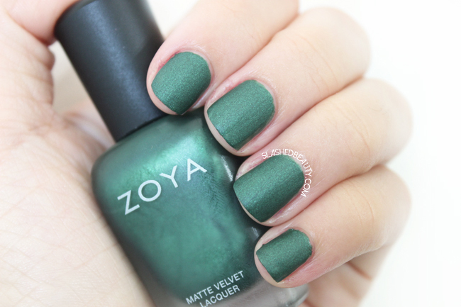 Review & Swatches: Zoya Matte Velvet Collection- Veruschka