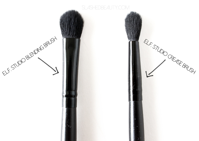 e.l.f. Studio Blending Brush vs. e.l.f. Studio Crease Brush