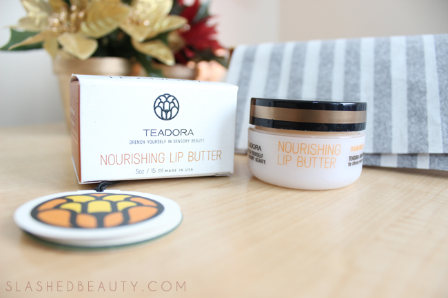 Review: 2014 Holiday Glossybox - Teadora Lip Butter | Slashed Beauty