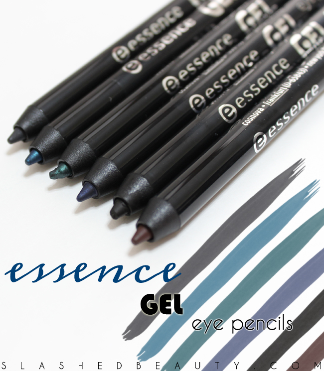 Review & Swatches: Essence Gel Eye Pencils | Slashed Beauty