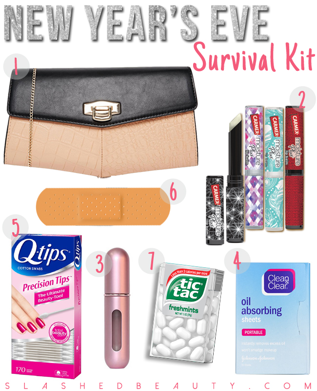 What to Pack in Your New Year's Eve Survival Kit | Slashed Beauty