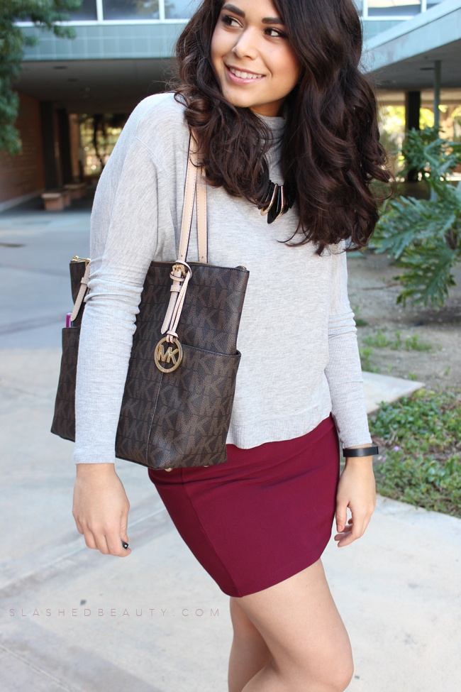 Comfy Chic: Dolman Top + Pencil Skirt
