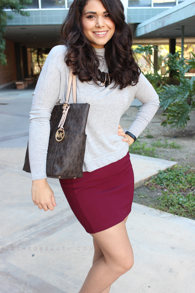 Comfy Chic: Dolman Top + Pencil Skirt