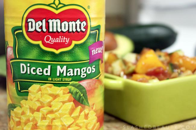 2-Minute Healthy Mango Salsa Recipe | Slashed Beauty