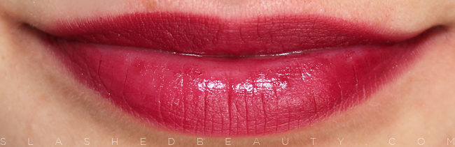 Review & Swatches: e.l.f. Studio Moisturizing Lipsticks: Crazy Cranberry | Slashed Beauty