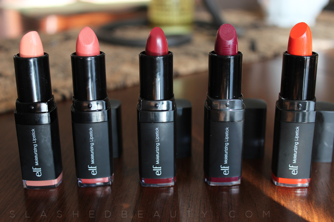 Review + Swatches: e.l.f. Studio Moisturizing Lipsticks | Slashed Beauty