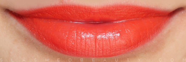 Review & Swatches: e.l.f. Studio Moisturizing Lipsticks: Orange Dream | Slashed Beauty