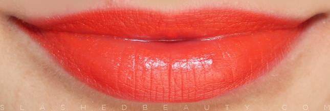 Review & Swatches: e.l.f. Studio Moisturizing Lipsticks: Orange Dream | Slashed Beauty