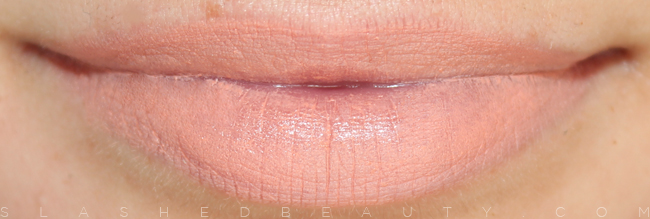 Review & Swatches: e.l.f. Studio Moisturizing Lipsticks: Party in the Buff | Slashed Beauty