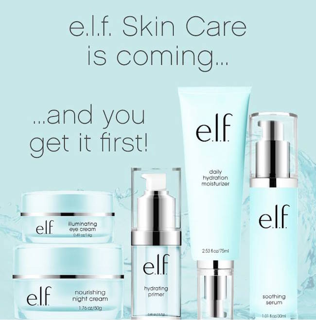 New e.l.f. Skincare Line Announced & Exclusive Pre-Shop