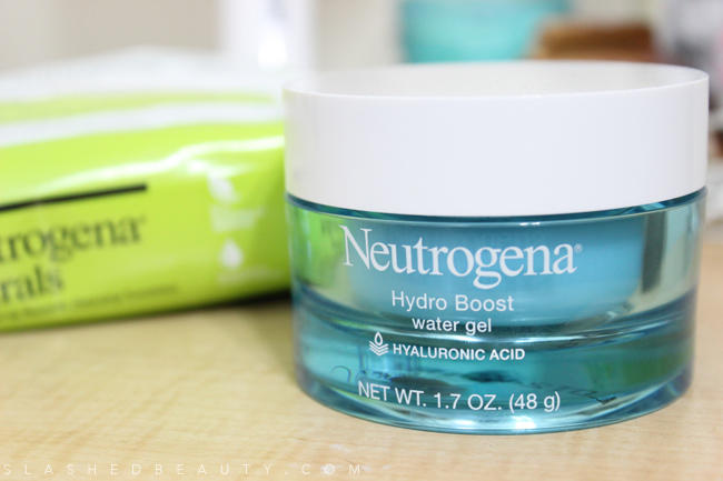 New Neutrogena: Hydro Boost Water Gel & Naturals Cleansing Towelettes | Slashed Beauty