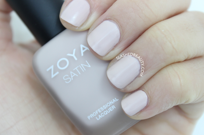 Swatches: Zoya Naturel Satins Collection - Ana | Slashed Beauty