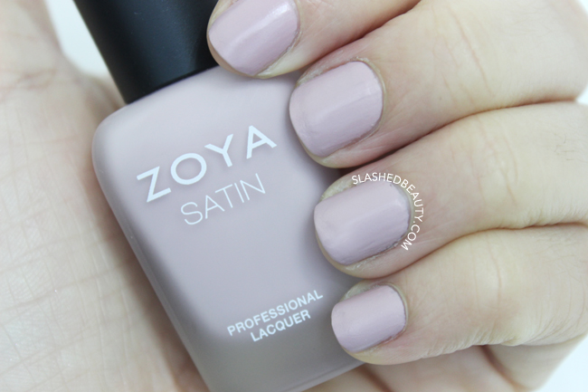 Swatches: Zoya Naturel Satins Collection - Brittany | Slashed Beauty