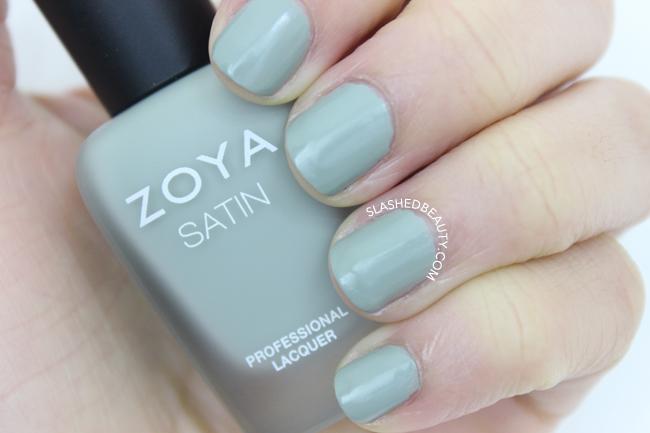 Swatches: Zoya Naturel Satins Collection - Sage | Slashed Beauty