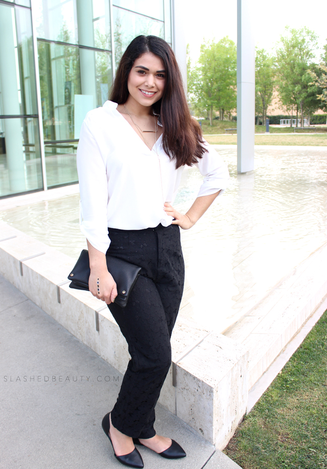 Modern Monochrome Outfit | Slashed Beauty