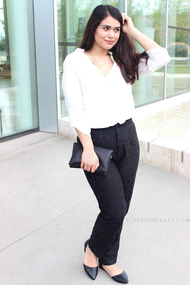 Modern Monochrome Outfit | Slashed Beauty