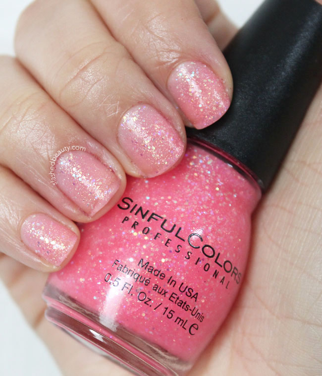 Sinful Colors Pinky Glitter Nail Polish Swatch | Slashed Beauty
