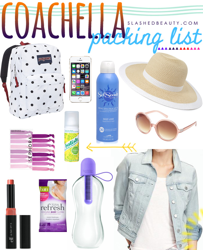 What to Bring to Coachella | Slashed Beauty