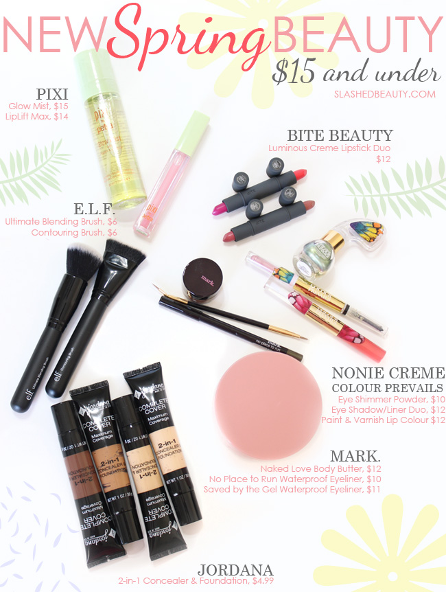 New Spring Beauty: $15 and Under | Slashed Beauty