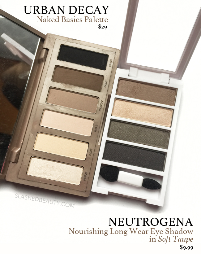 Neutrogena Soft Taupe Palette: $10 Naked Basics Dupe? | Slashed Beauty