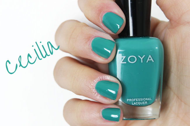 Swatches: Zoya Island Fun Collection Summer 2015 - Cecilia