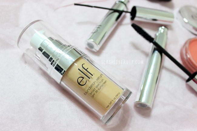 Review: e.l.f. Beautifully Bare Collection- Foundation Serum | Slashed Beauty