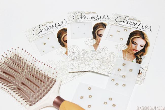 Review & Demo: Charmsies Iron-In Hair Charms | Slashed Beauty