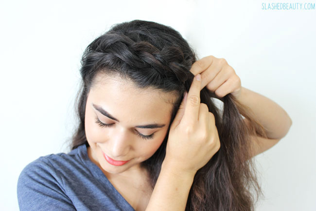 Hair Tutorial: Keep Cool Crown Braid | Slashed Beauty