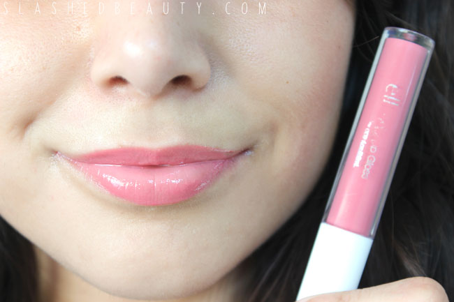 Review & Swatches: e.l.f. EX-tra Lip Glosses | Slashed Beauty