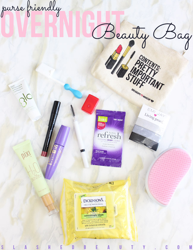 Purse-Friendly Overnight Beauty Bag | Slashed Beauty