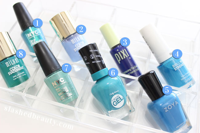 Crash My Stash: Blue Nail Polishes for Summer | Slashed Beauty