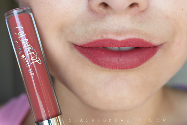 Review & Swatches: Colour Pop Ultra Matte Lip in Bumble | Slashed Beauty