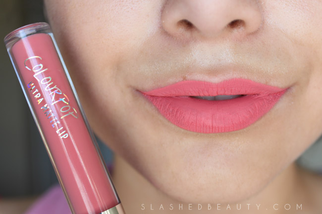 Review & Swatches: Colour Pop Ultra Matte Lip in Donut | Slashed Beauty